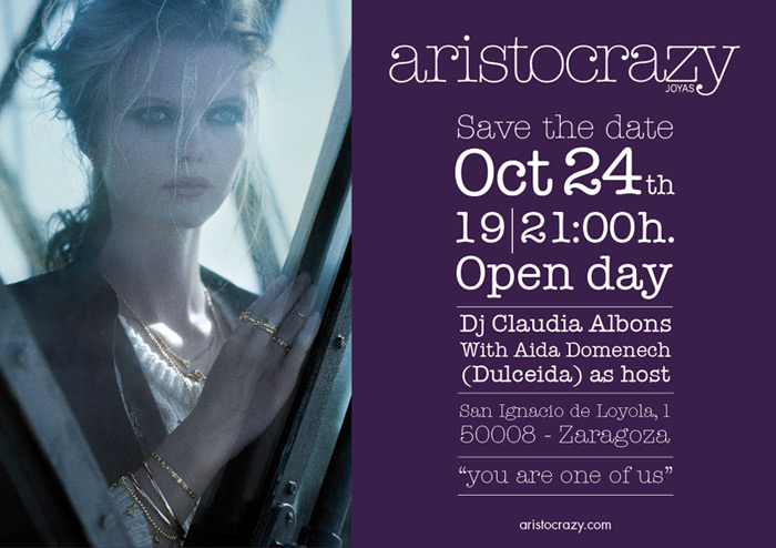 Newsletter Aristocrazy diseño paginas web zaragoza