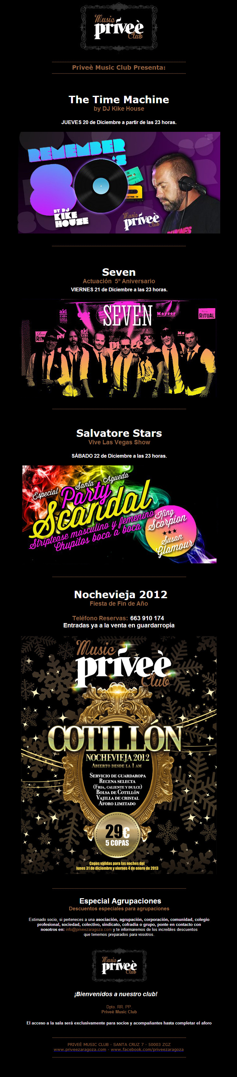 Newsletter Privee diseño paginas web zaragoza