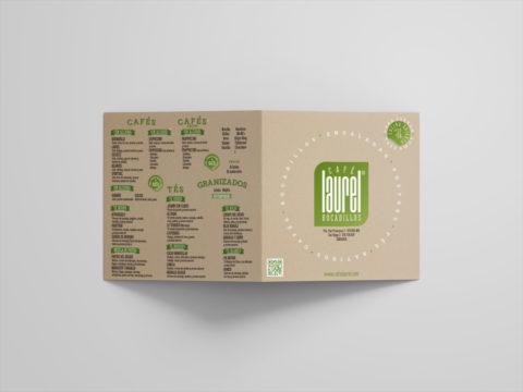 Imagen Corporativa Zaragoza. Diseño gráfico. Dípticos. Trípticos. Catálogos. Papelería. Tarjetas. Packaging. Logotipo Café Laurel. Zaragoza.