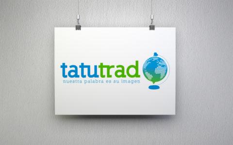 Imagen Corporativa Zaragoza. Diseño gráfico. Dípticos. Trípticos. Catálogos. Papelería. Tarjetas. Packaging. Logotipo TatuTrad. Zaragoza.