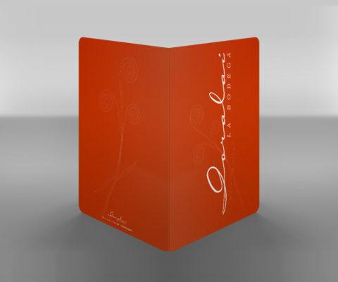 Imagen Corporativa Zaragoza. Diseño gráfico. Dípticos. Trípticos. Catálogos. Papelería. Tarjetas. Packaging. Cartas Restaurante. Logotipo Restaurante Goralai. Zaragoza.