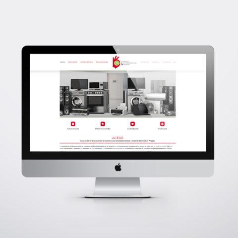 Diseño páginas web en Zaragoza. Intermedio 2.0. Diseño página web ACEAR. Posicionamiento web en buscadores. Google.