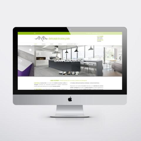 Diseño páginas web en Zaragoza. Intermedio 2.0. Diseño página web Ama Cocinas. Posicionamiento web en buscadores. Google.