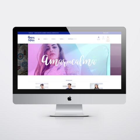 Diseño páginas web en Zaragoza. Intermedio 2.0. Diseño página web Amar en Calma. Posicionamiento web en buscadores. Google.