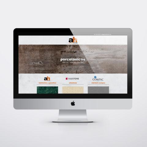 Diseño páginas web en Zaragoza. Intermedio 2.0. Diseño página web Mármoles Antonio Herruzo. Posicionamiento web en buscadores. Google.