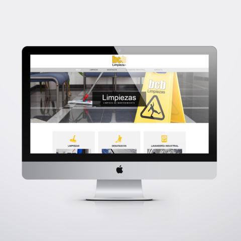 Diseño páginas web en Zaragoza. Intermedio 2.0. Diseño página web BCB Limpiezas. Posicionamiento web en buscadores. Google.