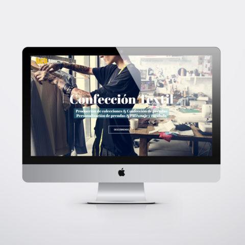 Diseño páginas web en Zaragoza. Intermedio 2.0. Diseño página web BCB Confección Textil. Posicionamiento web en buscadores. Google.