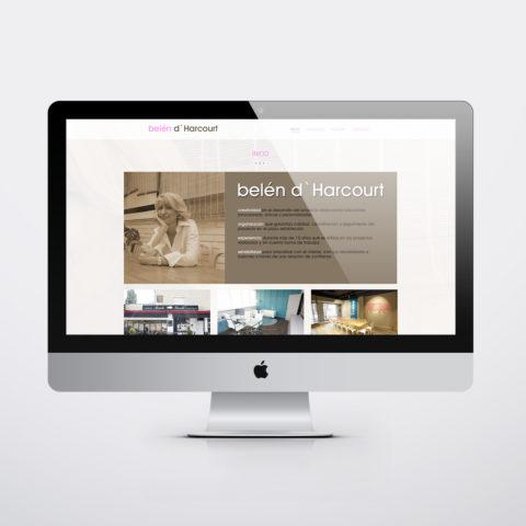 Diseño páginas web en Zaragoza. Intermedio 2.0. Diseño página web Belén dharcourt. Posicionamiento web en buscadores. Google.