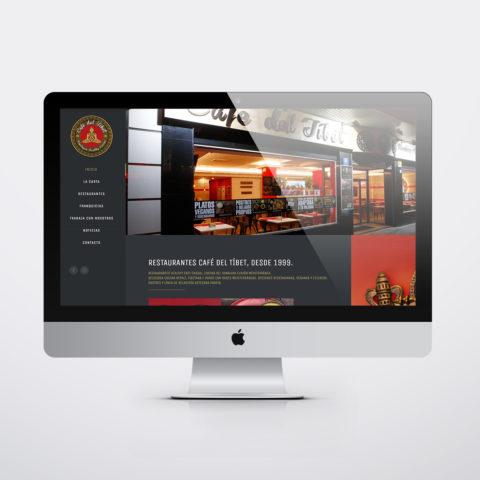 Diseño páginas web en Zaragoza. Intermedio 2.0. Diseño página web Café del Tibet. Posicionamiento web en buscadores. Google.