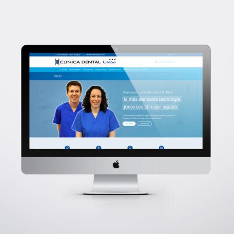 Diseño páginas web en Zaragoza. Intermedio 2.0. Diseño página web Clínica Dental Utebo. Posicionamiento web en buscadores. Google.