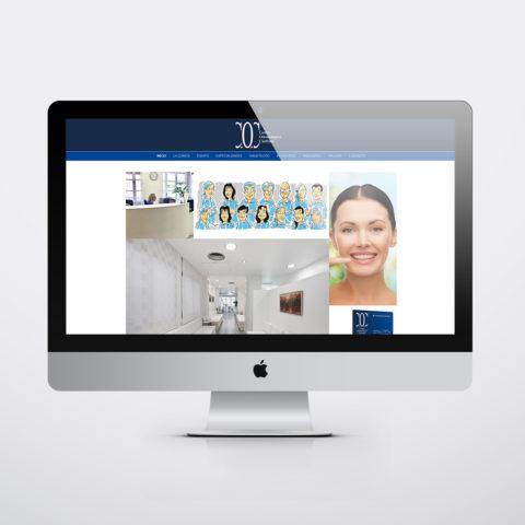 Diseño páginas web en Zaragoza. Intermedio 2.0. Diseño página web Cocanfranc Clínica Dental. Posicionamiento web en buscadores. Google.