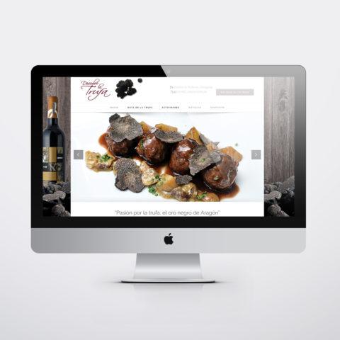 Diseño páginas web en Zaragoza. Intermedio 2.0. Diseño página web Descubre la Trufa. Posicionamiento web en buscadores. Google.