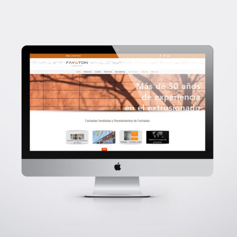 Diseño páginas web en Zaragoza. Intermedio 2.0. Diseño página web Faveton. Posicionamiento web en buscadores. Google.