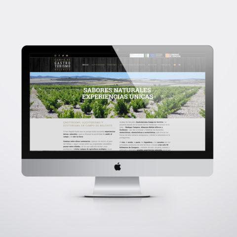 Diseño páginas web en Zaragoza. Intermedio 2.0. Diseño página web Gastroturismo Campo de Belchite. Posicionamiento web en buscadores. Google.