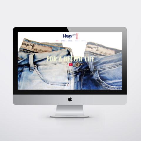 Diseño páginas web en Zaragoza. Intermedio 2.0. Diseño página web Happy Jeans. Posicionamiento web en buscadores. Google.