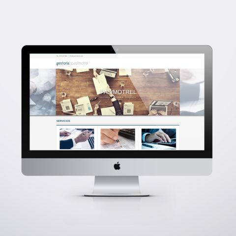 Diseño páginas web en Zaragoza. Intermedio 2.0. Diseño página web Ipas Motrel Gestoria. Posicionamiento web en buscadores. Google.