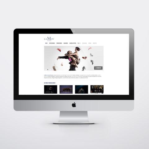 Diseño páginas web en Zaragoza. Intermedio 2.0. Diseño página web LaMov. Posicionamiento web en buscadores. Google.