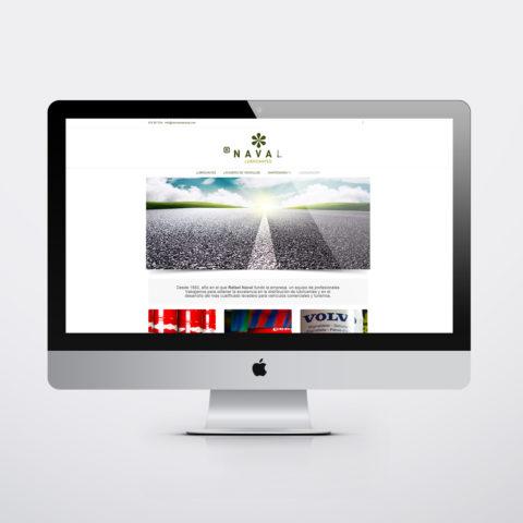 Diseño páginas web en Zaragoza. Intermedio 2.0. Diseño página web Lubricantes Naval. Posicionamiento web en buscadores. Google.