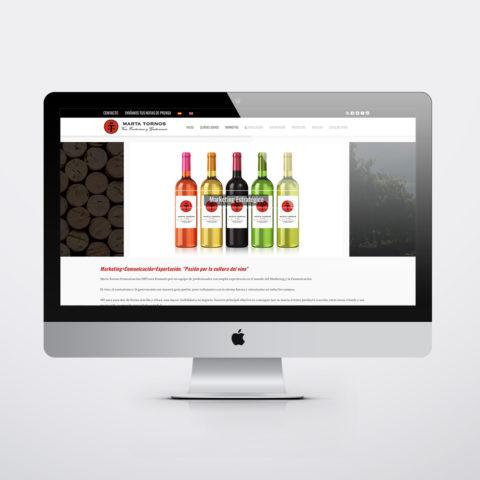 Diseño páginas web en Zaragoza. Intermedio 2.0. Diseño página web Marta Tornos Comunicación. Posicionamiento web en buscadores. Google.