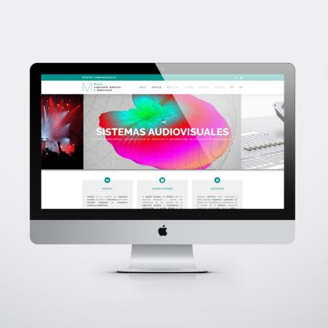 Diseño páginas web en Zaragoza. Intermedio 2.0. Diseño página web Modelo acústica Barcelona. Posicionamiento web en buscadores. Google.