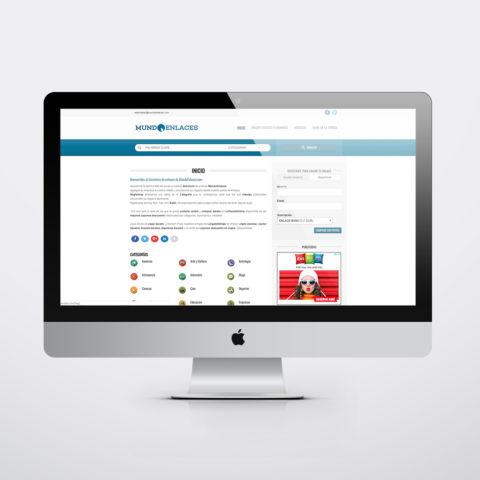 Diseño páginas web en Zaragoza. Intermedio 2.0. Diseño página web Mundo Enlaces. Posicionamiento web en buscadores. Google.