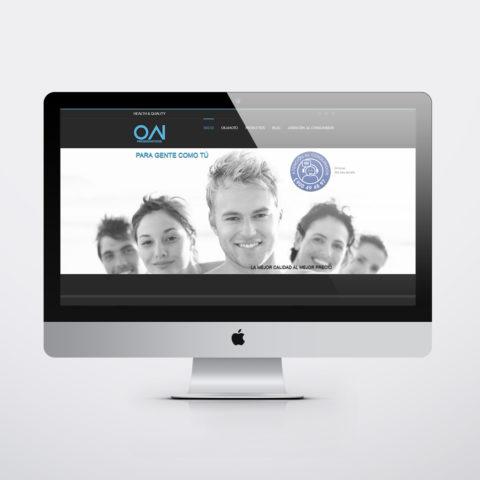 Diseño páginas web en Zaragoza. Intermedio 2.0. Diseño página web On Preservativos. Posicionamiento web en buscadores. Google.