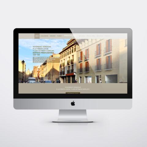 Diseño páginas web en Zaragoza. Intermedio 2.0. Diseño página web Pisos Casco Historico. Posicionamiento web en buscadores. Google.