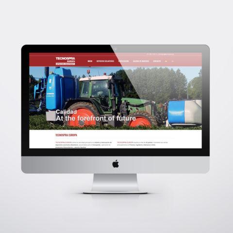 Diseño páginas web en Zaragoza. Intermedio 2.0. Diseño página web TecnoSpra. Posicionamiento web en buscadores. Google.