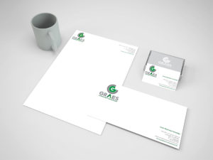 Imagen Corporativa Zaragoza. Diseño gráfico. Dípticos. Trípticos. Catálogos. Papelería. Tarjetas. Packaging. Logotipo Graes. Zaragoza.