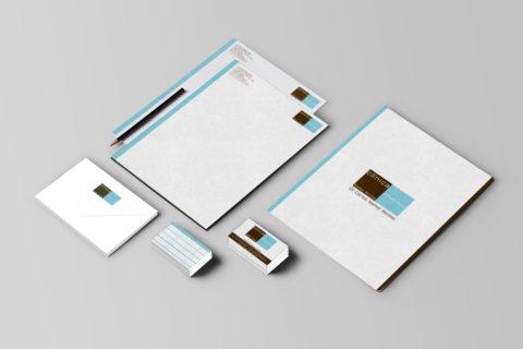 Imagen Corporativa Zaragoza. Diseño gráfico. Dípticos. Trípticos. Catálogos. Papelería. Tarjetas. Packaging. Logotipo Clínica Dental Dr. Ibañez. Zaragoza.