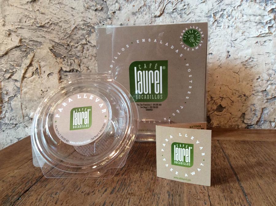Packaging servicio para llevar caf laurel zaragoza for Cafe para llevar