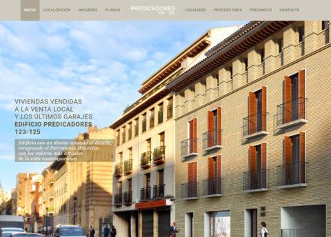 Diseño web Zaragoza. Intermedio 2.0. Diseño página web Pisos en casco Histórico. Predicadores 123, 125. Posicionamiento web en buscadores.